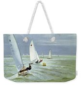 Around The Buoy Weekender Tote Bag by Timothy Easton