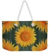 Around The Sunflower Weekender Tote Bag