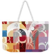 Arraygraphy - Sunset Inferno Triptych Part 3 Weekender Tote Bag