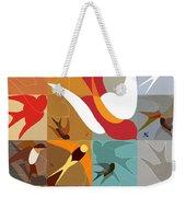 Arraygraphy - Birdies Triptych Part2 Weekender Tote Bag