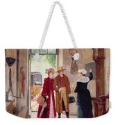 Arrival At The Inn Weekender Tote Bag by Charles Edouard Delort