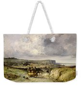 Arrival Of A Stagecoach At Treport Weekender Tote Bag