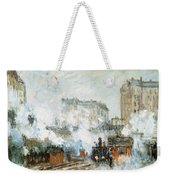 Arrival Of A Train Weekender Tote Bag