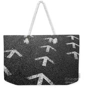 Arrows On Asphalt Weekender Tote Bag