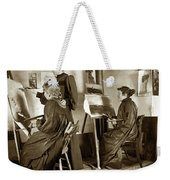 Art Class Oil Painting Teacher  And Art Students 1900 Weekender Tote Bag