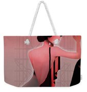 Art Deco Valentine Greeting Weekender Tote Bag