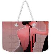 Art Deco Valentine Greeting Weekender Tote Bag by Jeff Burgess