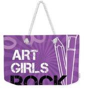Art Girls Rock Weekender Tote Bag by Linda Woods