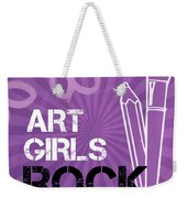 Art Girls Rock Weekender Tote Bag