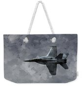 Art In Flight F-18 Fighter Weekender Tote Bag by Aaron Lee Berg