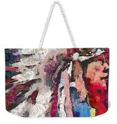 Art Indian Chief Pearlesques In Fragments  Weekender Tote Bag