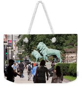 Art Institute Of Chicago Bronze Lions Weekender Tote Bag