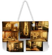 Art Institute Of Chicago Miniature Room Collage Textured Weekender Tote Bag