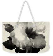 Art Is The Hibiscus -black And White Weekender Tote Bag