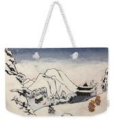 Art Of Buddhism And Shintoism And Two Paths In The Snow Weekender Tote Bag