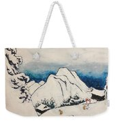Art Of Japan And The Two Paths Of Shintoism And Buddhism - Holy Men In The Snow Without Abraham Weekender Tote Bag