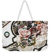 Art Violin And Roses Pearlesqued In Fragments  Weekender Tote Bag