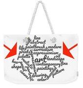 Art Word Cloud 1 Weekender Tote Bag