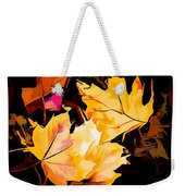 Artful Maple Leaves Weekender Tote Bag