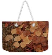 Artfully Scattered Sea Grape Leaves Weekender Tote Bag
