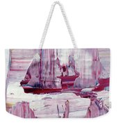 Artic Sailing Weekender Tote Bag