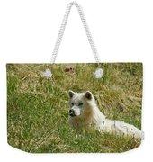 Artic Wolf 2 Dry Brushed Weekender Tote Bag
