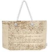 Articles Of Confederation Weekender Tote Bag