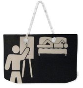 Artist At Work Weekender Tote Bag