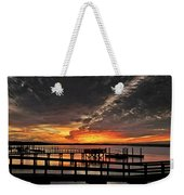 Artistic Black Sunset Weekender Tote Bag