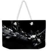 Artistic Nude Abstract Closeup Of A Thorny Holly Tree Branch On  Weekender Tote Bag