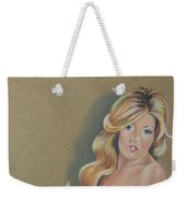 Artistic Nude Pin Up Weekender Tote Bag by Leida Nogueira