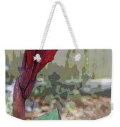 Artistic Red Canna Lily Weekender Tote Bag