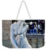 Artistic Statue That Has Gone To The Birds In Barcelona Weekender Tote Bag
