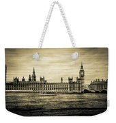 Artistic Vision Of Elizabeth Tower Big Ben And Westminster Weekender Tote Bag