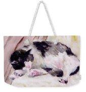 Artist's Cat Sleeping Weekender Tote Bag