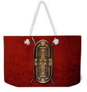 Zande War Shield With Spears On Red Velvet  Weekender Tote Bag