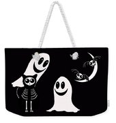 Halloween Bats Ghosts And Cat Weekender Tote Bag