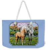 Spring's Gift - Mare And Foal Weekender Tote Bag by Crista Forest