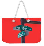 Broad And Pattison Where Philly Sports Happen Weekender Tote Bag