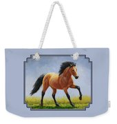 Buckskin Horse - Morning Run Weekender Tote Bag by Crista Forest
