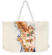 Cat Orange Weekender Tote Bag