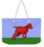 Cartoon Romping Miniature Apricot Poodle Weekender Tote Bag by Marian Cates