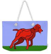 Cartoon Romping Miniature Apricot Poodle Weekender Tote Bag