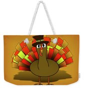 Thanksgiving Turkey Pilgrim Weekender Tote Bag