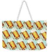 Beer Pattern Weekender Tote Bag