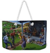 Porch Music And Flatfoot Dancing - Mountain Music - Appalachian Traditions - Appalachia Farm Weekender Tote Bag