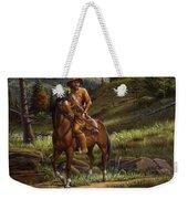Jim Bridger - Mountain Man - Frontiersman - Trapper - Wyoming Landscape Weekender Tote Bag