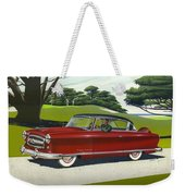 1953 Nash Rambler Car Americana Rustic Rural Country Auto Antique Painting Red Golf Weekender Tote Bag