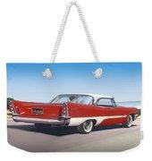 1957 De Soto Car Nostalgic Rustic Americana Antique Car Painting Red  Weekender Tote Bag