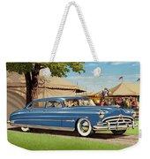 1951 Hudson Hornet Fair Americana Antique Car Auto Nostalgic Rural Country Scene Landscape Painting Weekender Tote Bag